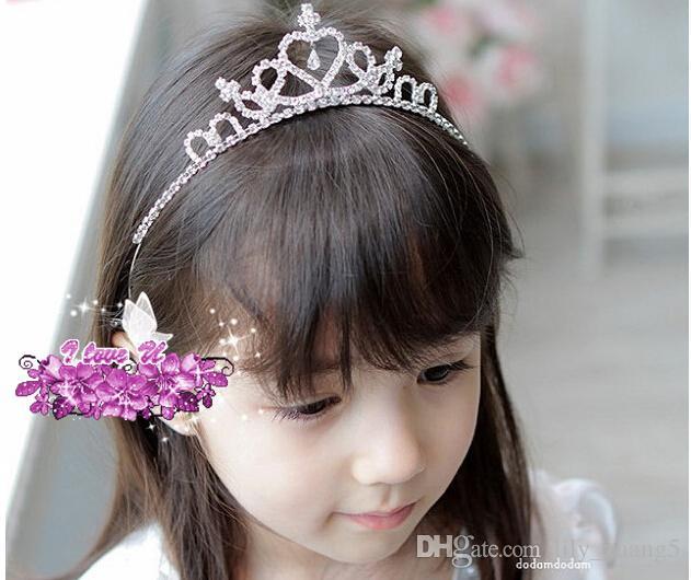 Wholesale-2016 Nette Silber Princess Hair Band Tiara Strass Stirnband Für Kinder Mädchen Kinder 31