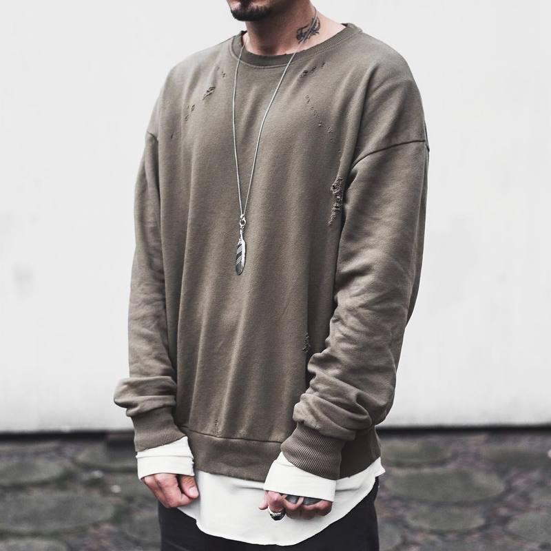 Grey Crewneck Jersey Dress Yeezy by Kanye West F11H1K6