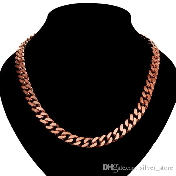 hot sale 24k 18k rose gold yellow gold Sideways 10M necklace jewelry GN836 brand new fashion gemstone necklace christmas gift