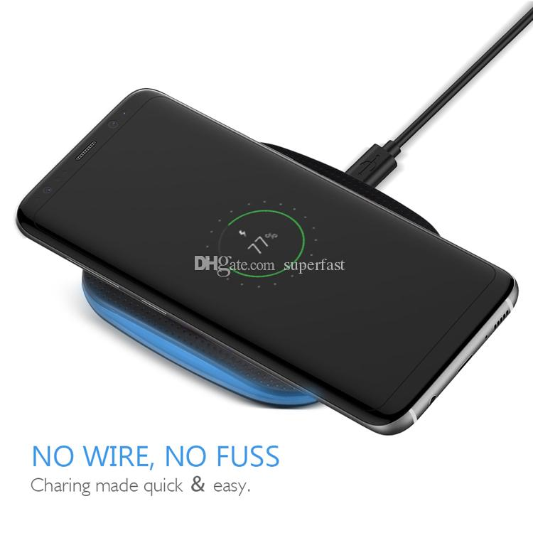 Wireless Charger Pad For iPhone X Wireless Power Charger Fast Charging For iPhone 8 Galaxy Note 8 Dock Charger with Retail Package