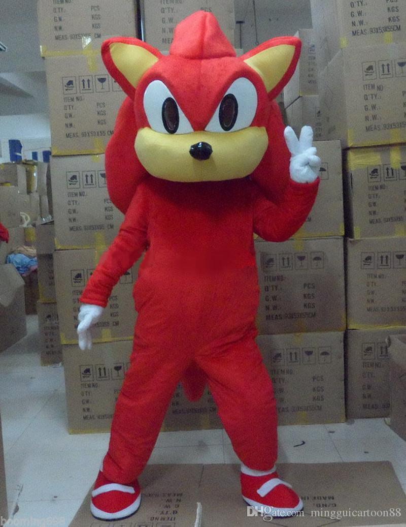 New Style Sonic Maskottchen Kostüm aus dem Igel Kostüm Erwachsene Größe Sonic Cartoon Kostüm mit drei Farben Factory Direct Salre