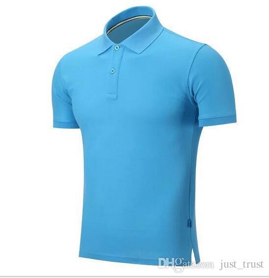 2016 broderie d'été Cheval Polos homme 100% coton polos manches courtes hommes Chemises Chemise poney solide de l'homme Camisa Tee