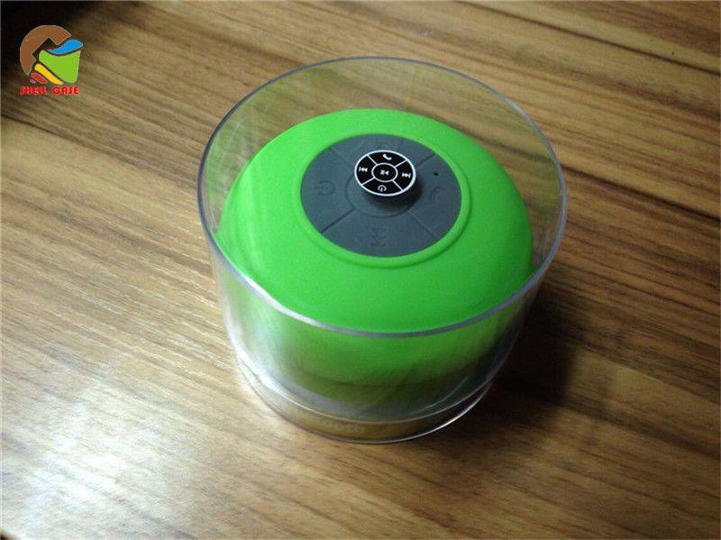 IPX4 waterproof bluetooth speaker mini wireless subwoofer with sucker handfree bathroom shower music player speakers for iphone 7 galaxy s8