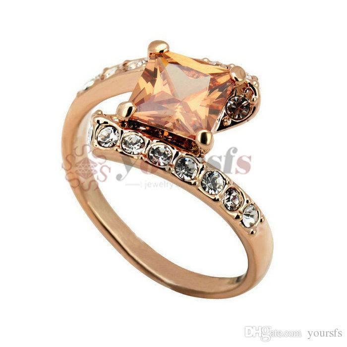 Yoursfs Fashion Bijoux 18k Gold Plated Zircon Femme Engagement Cadeau de mariage