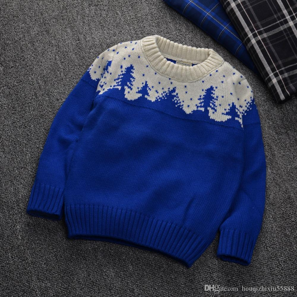 c47bdcf6c Baby Girl Winter Sweater Red Green Blue 2-7 Years Fashion Christmas ...