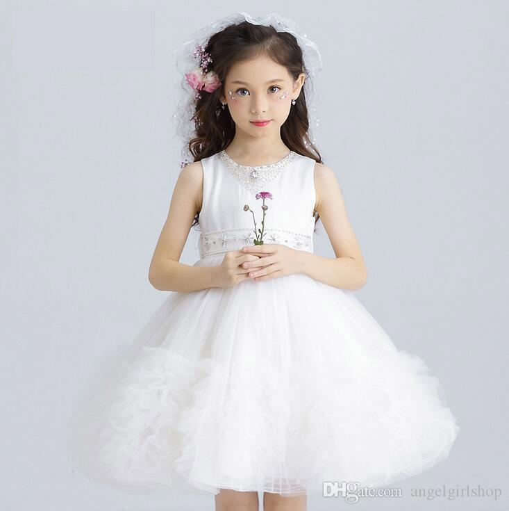 New Kids Princess Holiday Formal Party Dress Flower Girl Costume First Communion Flower Girl Dress Kids Princess Dress Girl Party Dress Online With
