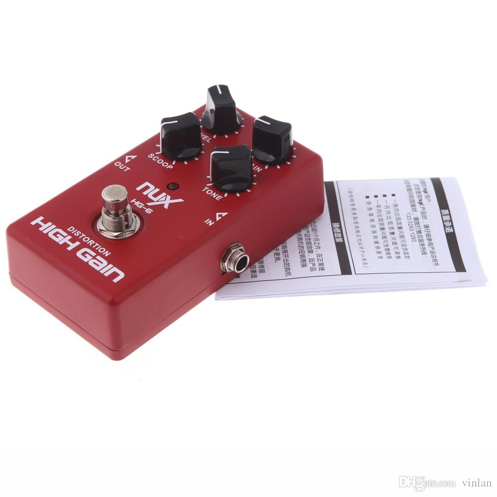 Original Product NUX HG-6 Chitarra Distorsione High Gain Electric Effect Pedal True Bypass Red Durable Guitar Parts Accessories