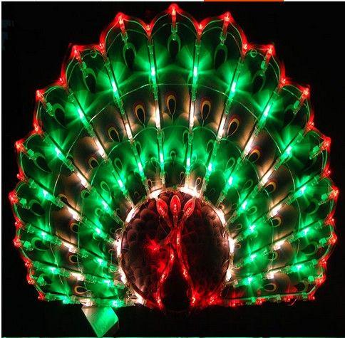 Yeni Yıl Fener Yeni Yıl dekorasyon düğün evlilik oda düzeni pencere dekoratif tavuskuşu LED tatil bahçe çim ışıkları
