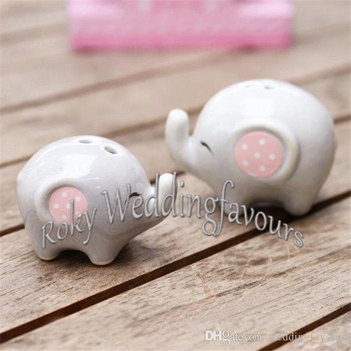 MOMMY AND ME Little Peanut Elephant Salt and Pepper Shaker Party Gifts Great Baby Shower Decor Ideas