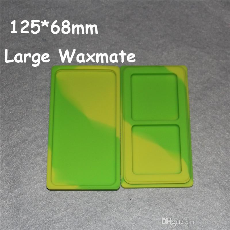 Large Waxmate Containers Silicone Rubber Silicon Storage Square Shape Wax Jars Dab Concentrate Tool Dabber Oil Holder for Vaporize DHL
