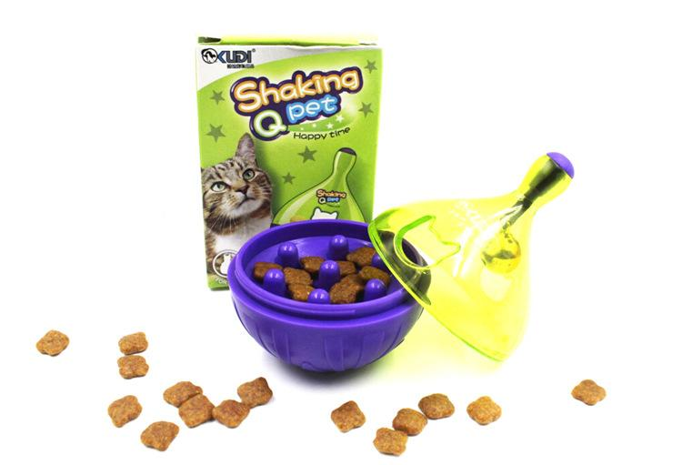 Funny Pet Dog Cat Puppy Bone Leakage Food Dispenser Chew Interactive Playing Toys Plastic Ball Food Toys for Cats