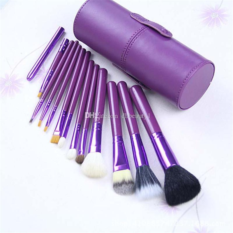 2017 new brand M MakeupBrush12piecesProfessionalMakeupBrushsetKitwith Free Ship + Free Gift High quality five color sell