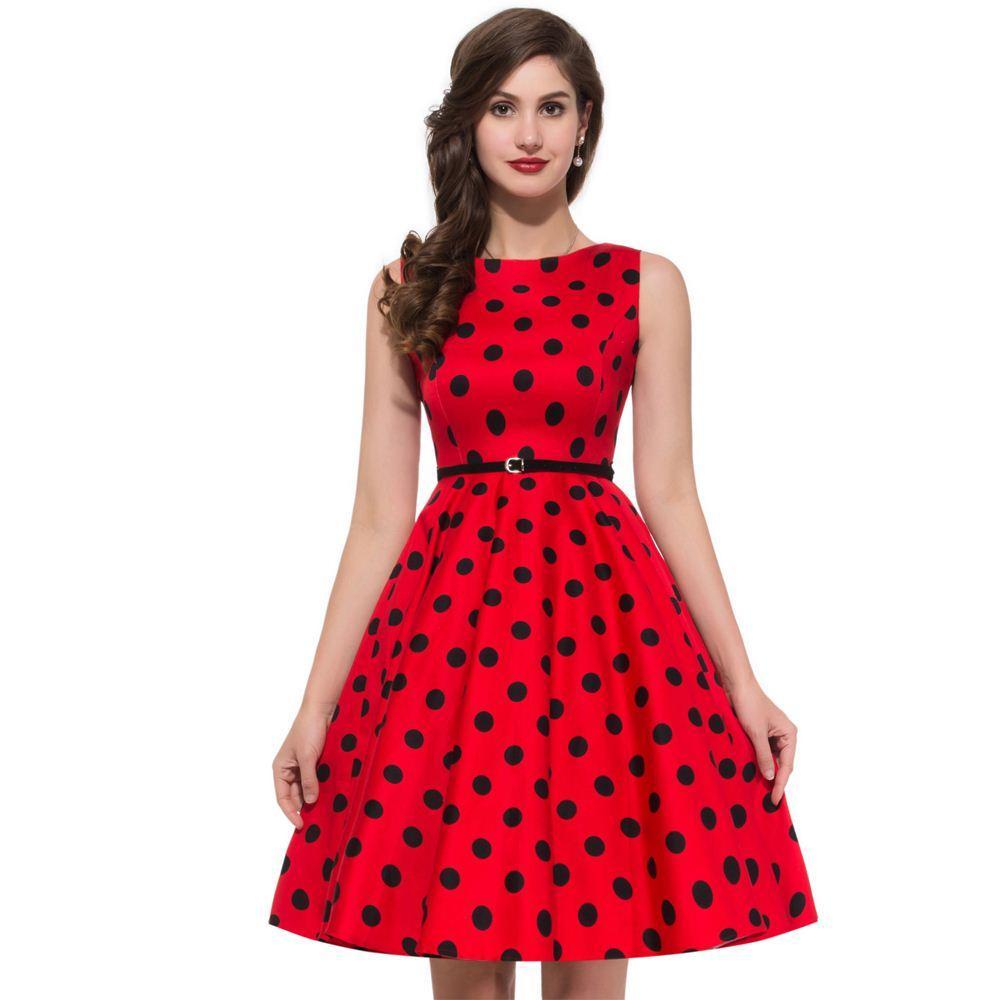 Frauen Sommer Stil Inspirierte Vintage Kleidung Retro 50 S Große ...