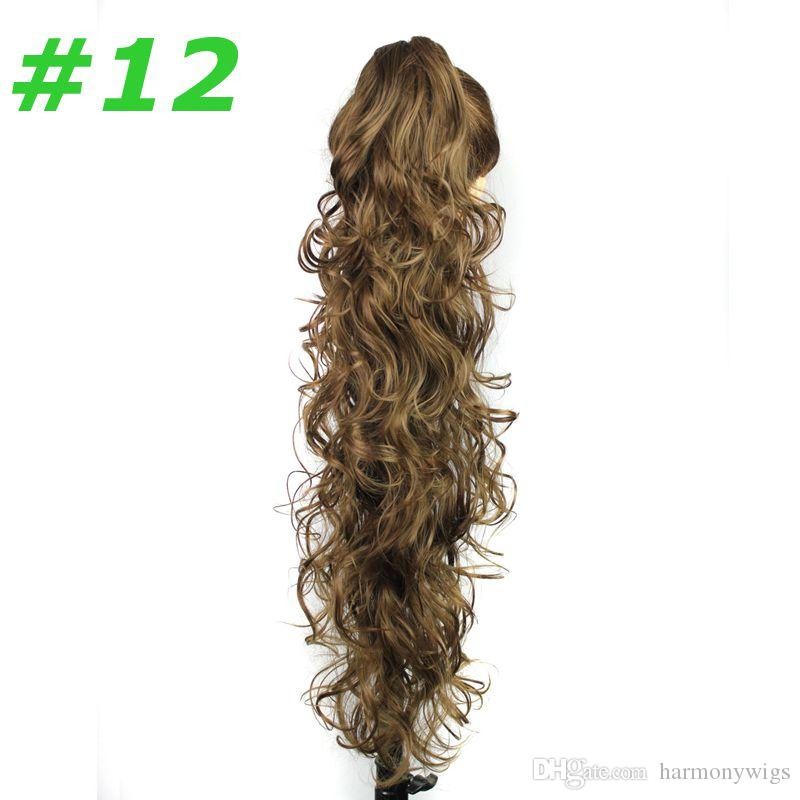 Коготь клип хвостики синтетические волосы хвост Калри волнистые волосы штук 31inch 220 г синтетические наращивание волос женщины мода
