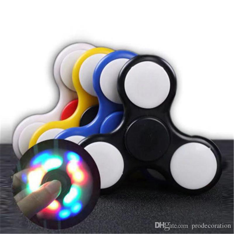 LED Light Up Hand Spinners Christmas Creative Toy Gifts Fidget Spinner For Decompression Anxiety Toys High Quality Hot Sale