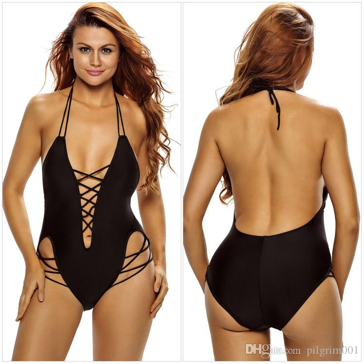 2017 New Sexy 1 one piece swimsuit Backless swim suit for women Swimwear Bathing suit swim wear female Monokini