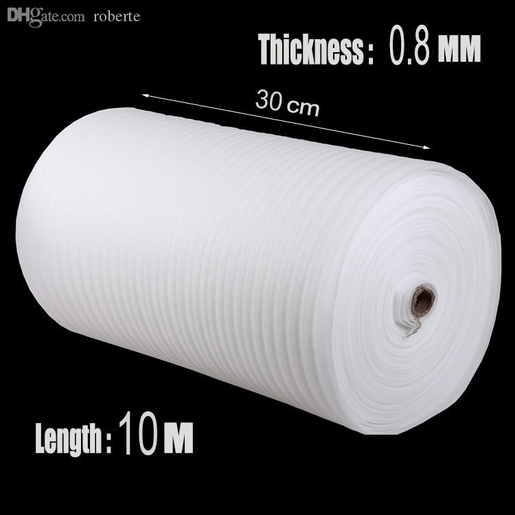 Wholesale-0 3*10m 1Pcs 0 8mm Brand Cushion Foam Wrap Rolls EPE Packing  Material Laser Protective Film Cushion Roll Shipping EPE Foam Sheet