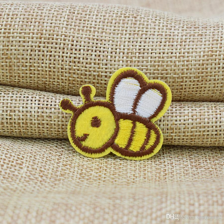 yellow bee embroidery patches for clothing iron patch for clothes applique sewing accessories stickers badge on cloth iron on patch