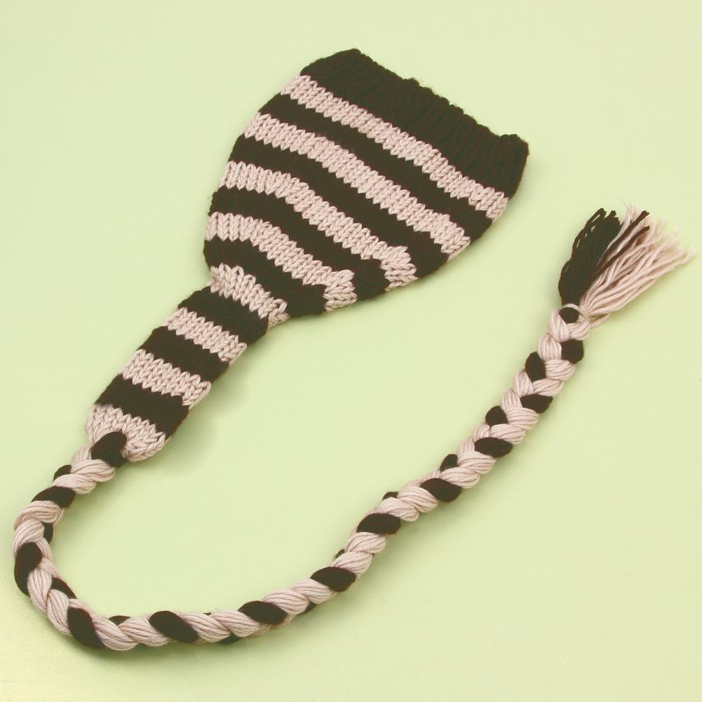1 Pc Newborn Photography Prop Winter Baby Boys Girls Hats Handmade Coffee Striped Crochet Knitted Costume Caps 2 Sizes For 0-4M