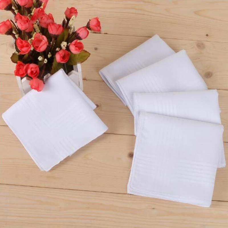 New 100% Cotton Male Table Satin Handkerchief Towboats Square Handkerchief Whitest 40*40cm