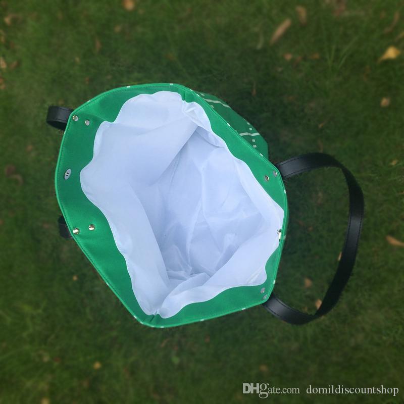 Grande Blanks Runway Tote Bag Toile Matériel Football Game Day Fourre-tout Casual Grande Capacité Sac à main sport fourre-tout DOM103374