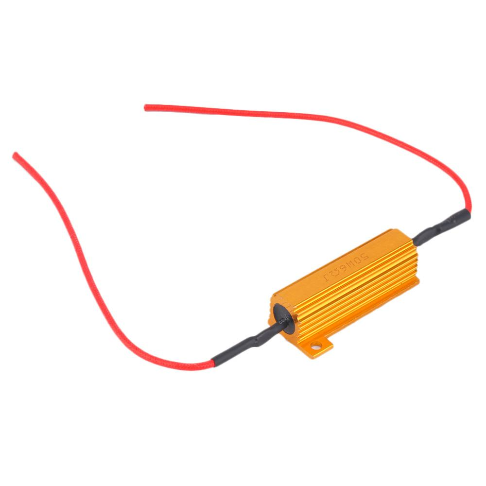 RX24-50W6R 50W 6Ohm 6R Car LED DRL Nebbia Turn Singal Resistenza di carico Fix LED Bulb Fast Hyper Flash Segnale di svolta