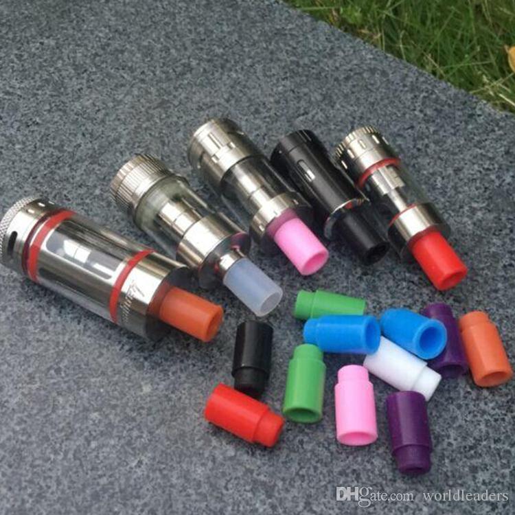 실리콘 마우스 피스 커버 물방울 팁 일회용 다채로운 실리콘 테스트 팁 kanger subtank nebox tank 용 테스터 캡