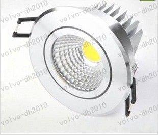 CREE Alta potencia 10W / 15W / 25W COB LED Lámpara de techo LED downlight regulable Luz empotrada LED Luz empotrada LLFA187