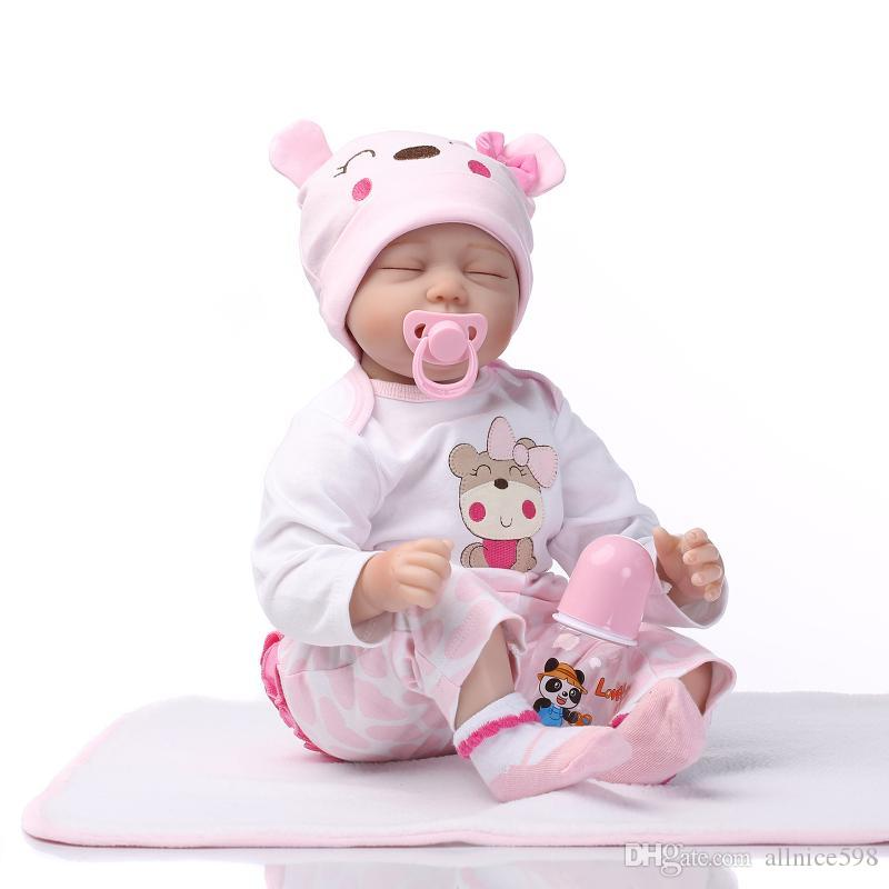 22handmade lifelike baby girl doll silicone vinyl reborn newborn dolls clothes artist dolls clothes for 6 inch dolls from allnice598 60 31 dhgate com