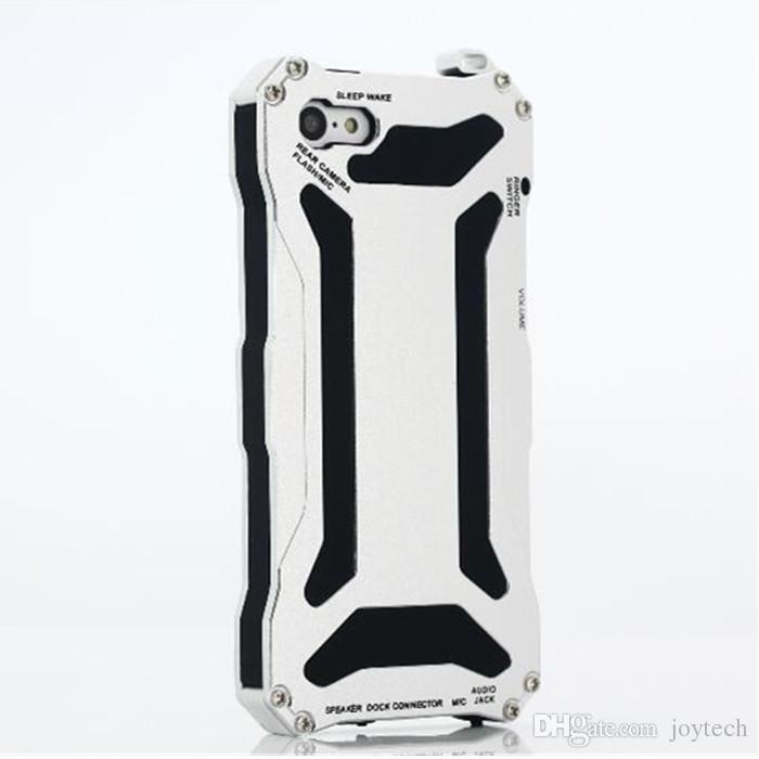 Gundam liga de alumínio de metal de alta qualidade casos à prova d 'água poderosa tampa do telefone para iphone 5 / 5c iphone 6 samsung s6 telefone móvel