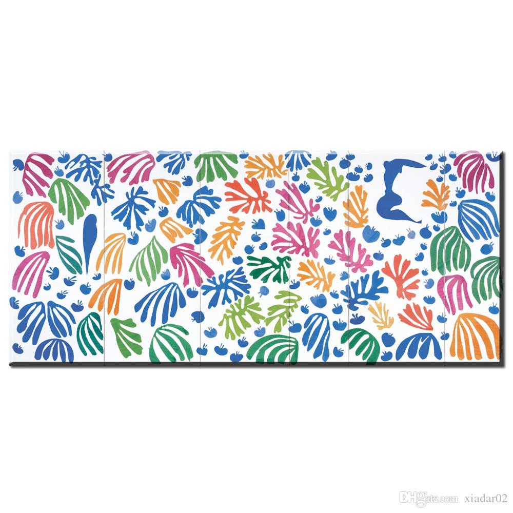 ZZ1740 Lienzo Art Wall Pictures For Living Room Henri Matisse Pintura Cut Outs Cuadros Decoracion Home Decor Pinturas impresas