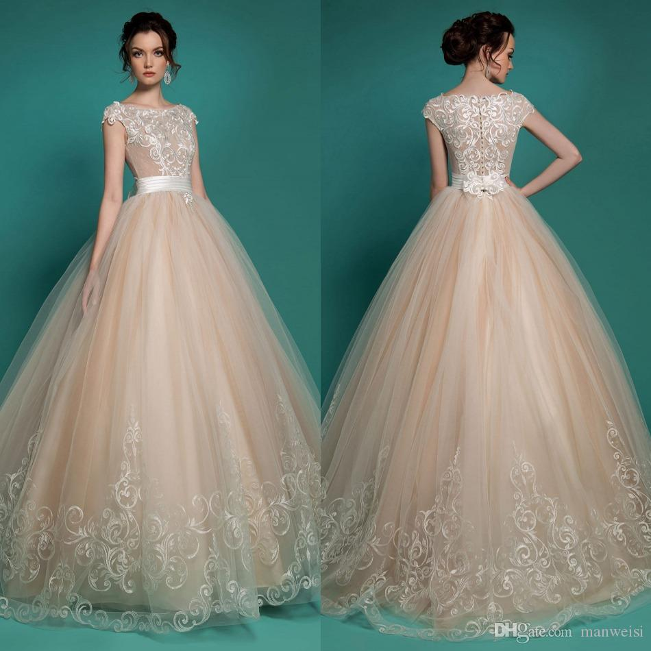 Discount Milla Nova 2016 Vintage Lace Wedding Dresses Ivory Jewel ...
