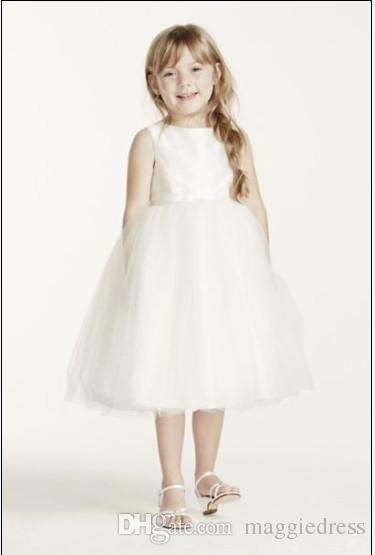 2016 Lovely Flower Girl Dresses Simple Lace Girl Pageant Dresses Ball Gown Jewel Dresses