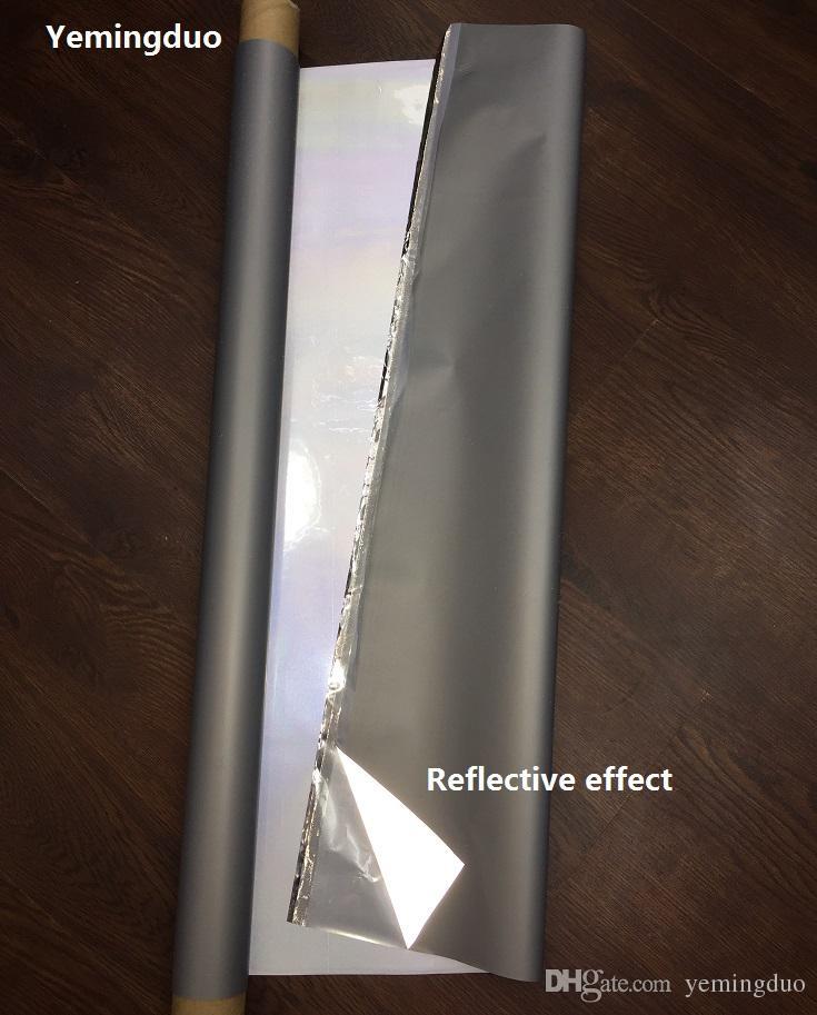 2-140cm 고광택 반사 전사 필름 PES 가열 파우더 뜨거운 철 의류 경고 안전 반사 테이프 의류 액세서리