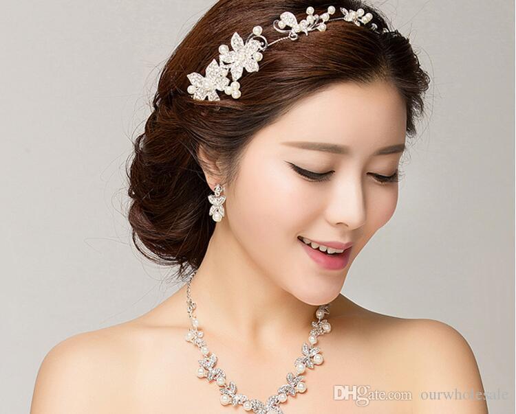 Orecchini collane e orecchini accessori collane con lama a quattro foglie di perle