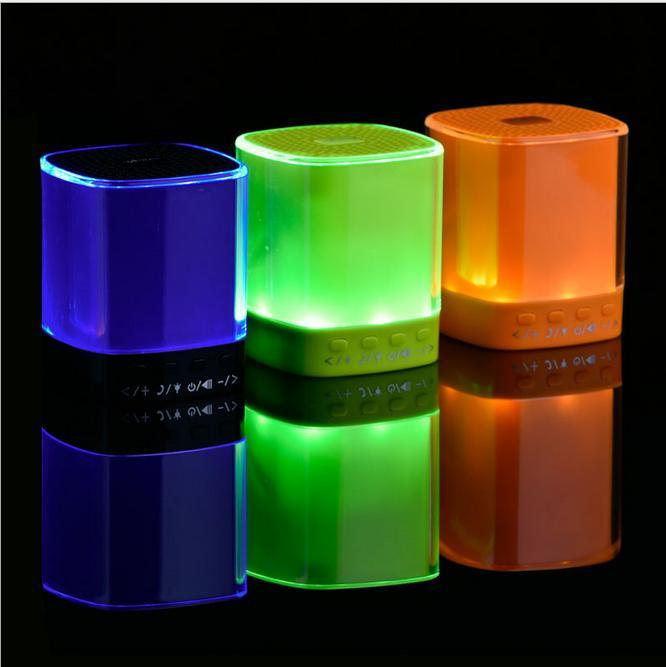 Wireless Bluetooth Speaker yAyusiB9 Support Micro SD Potable Mini Light Flash Bluetooth Speaker Cylinder Shape DHL