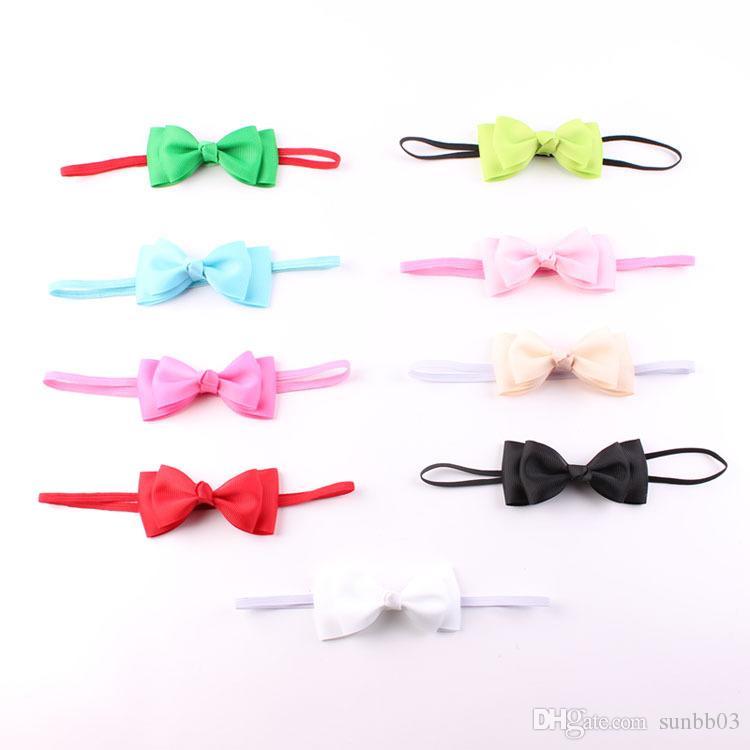 9 Renkler Headwrap Bebek Kafa Bantları Şeker Renk Ilmek Kafa Bebek Elastik Şapkalar Bebek Hairband Fotoğraf Sahne Saç Aksesuarı
