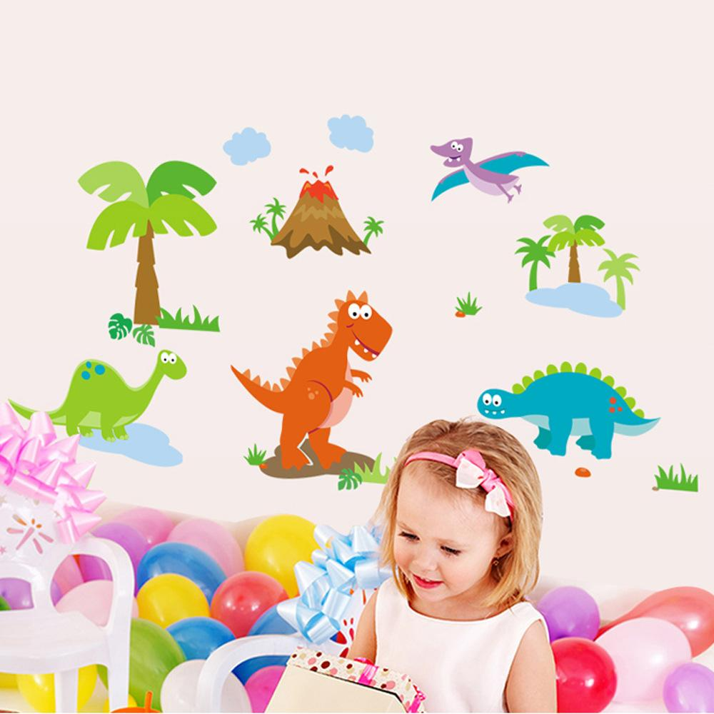 cute cartoon dinosaur wall stickers indoor wall stick the sitting cute cartoon dinosaur wall stickers indoor wall stick the sitting room the bedroom setting wall stickers personality wall stick 6pcs lot