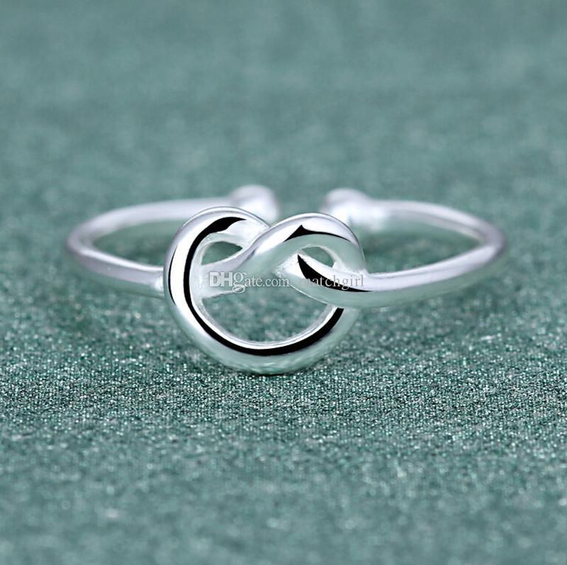 Großhandel 925 Silberne Ringe Drahtziehringe 925 Handgemachte Mode ...