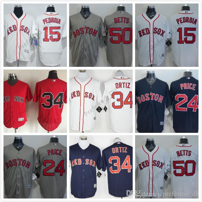 f983befa141 mlb jerseys boston red sox 34 david ortiz grey baseball jerseys