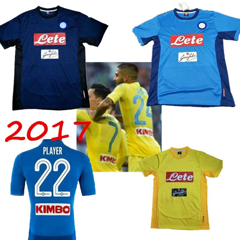 Best New! 2017 2018 Napoli Jersey 17 18 Milik L.Insigne Hamsik Callejon  Home Away 3rd Best Quality Naples Shirts Jeresys Under $15.59 | Dhgate.Com