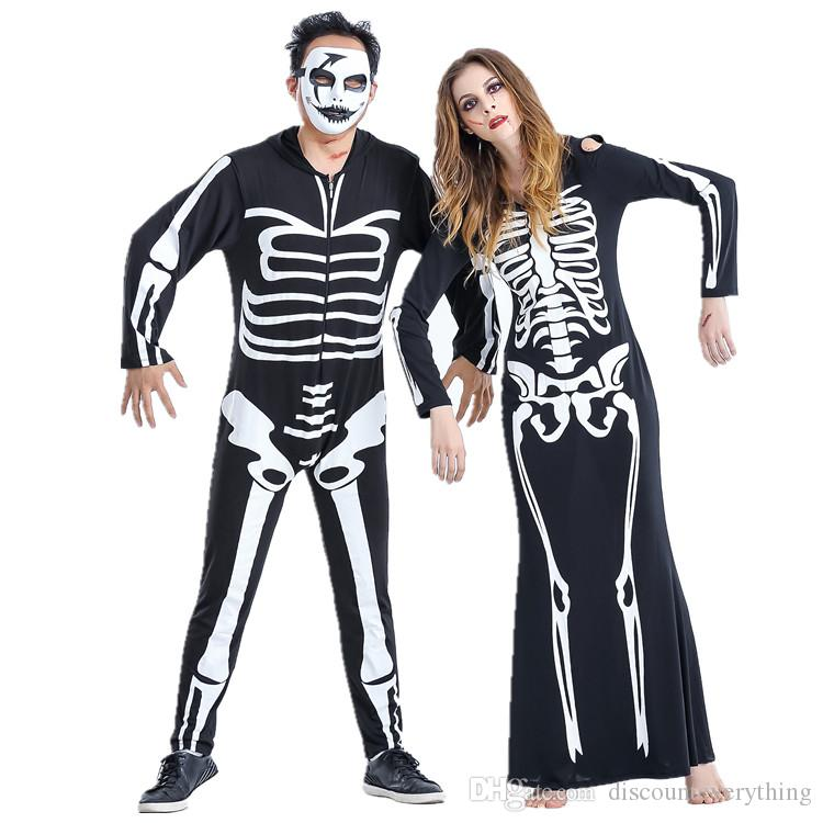 Halloween Costume Skeleton Outfit Lovers Suit Cosplay Costumes Fancy Dress Party Clothes Child Costumes Group Halloween Themes From Discounteverything ...  sc 1 st  DHgate.com & Halloween Costume Skeleton Outfit Lovers Suit Cosplay Costumes Fancy ...