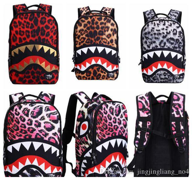 b6152c936 Shark Backpack Bookbag Men School Bags Casual Travel Bag For Teenager 3D  Print Cool Rucksack Travel Backpack KKA2927