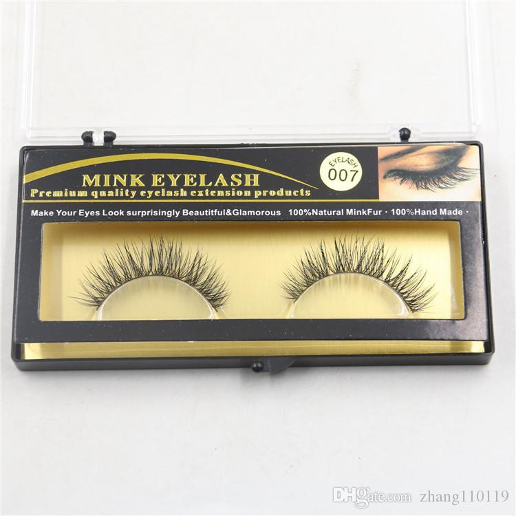 Makeup Mink Eyelash False Fake Eyelashes Handmade Natural Long Thick 100% Real Mink Natural ThickEye Lashes Extension 2018 Premium Quality