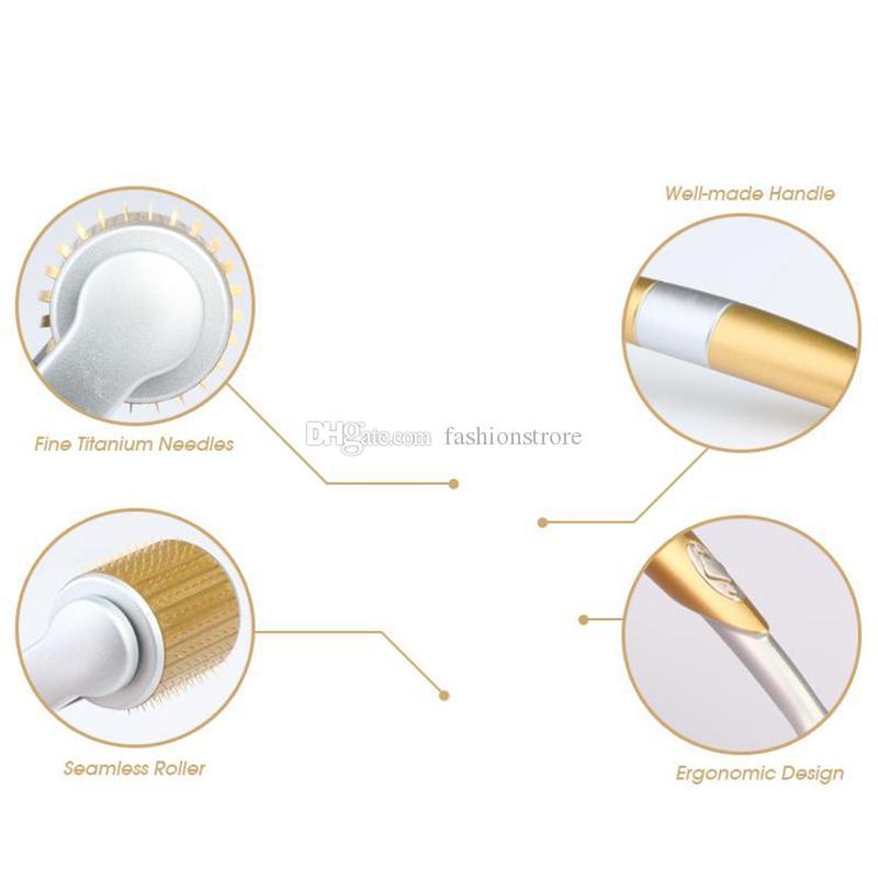 ZGTS 0.5mm 1.0mm 1.5mm 티타늄 더마 바늘 스킨 롤러 마이크로 바늘 셀룰 라이트 노화 방지 연령 모공 정밀 피부 과학 치료 시스템
