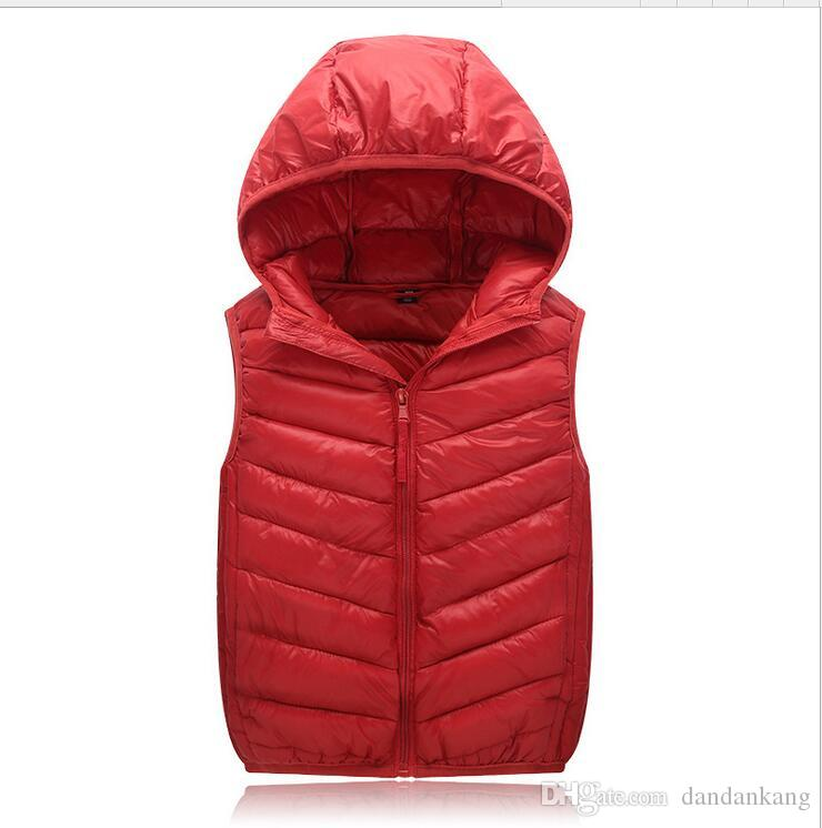 Top Quality Kids Winter Clothing Windproof Warm Keeper Ultralight hooded Down Jacket waistcoat down coat vest lightweight jacket outwear