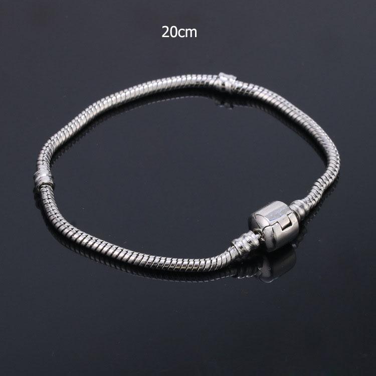 Encantos Mulheres pulseiras de prata chapeamento Beads Magnetic snap Locket Fechos Big Hole europeus e americanos jóia de prata para as mulheres