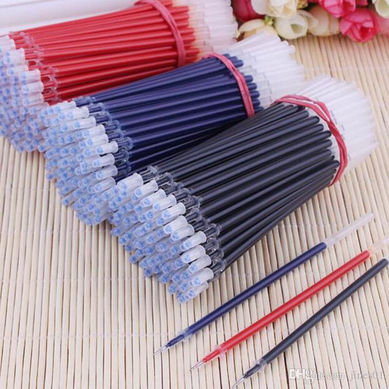 Livraison gratuite 100 pièces / stylo encre gel recharges noyau 0.38mm Recharges pour aiguilles, encre gel remplacer Bureau Fournitures Scolaires Papelaria