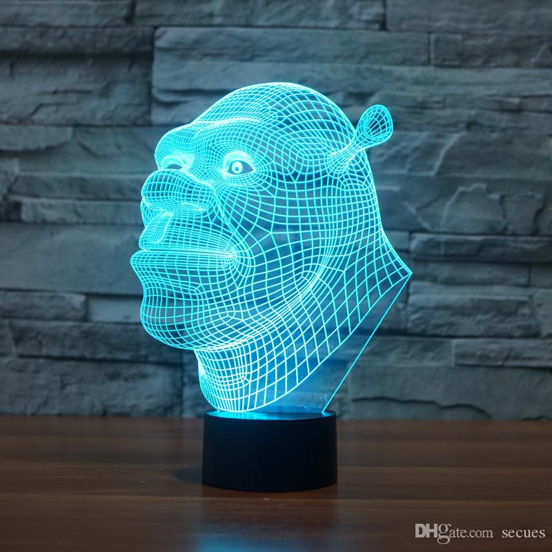 2019 2017 New Design Shrek 3d Optical Lamp Night Light 9