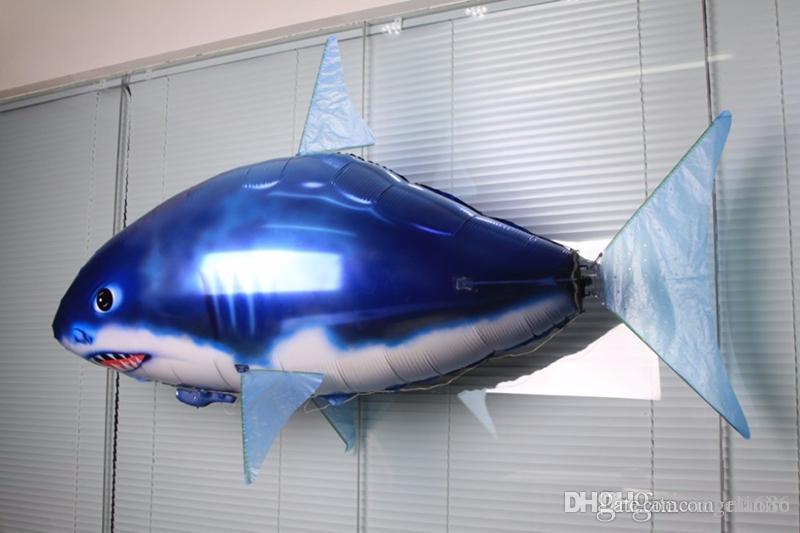 2017 RC Air Nageur Requin Poisson Clown Flying Air Nageurs Gonflable Assemblée Natation Poisson Clown Télécommande Blimp Balloon Air Nageur Jouet